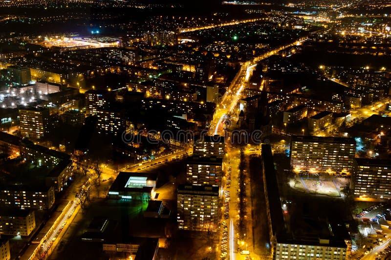 Belichtete Stadt lizenzfreies stockfoto