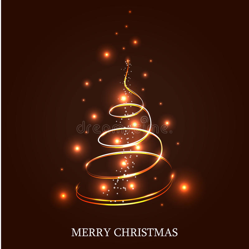 Belichteter Weihnachtsbaum stock abbildung