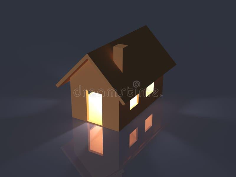 Belichtetes Spielzeug-Haus stock abbildung