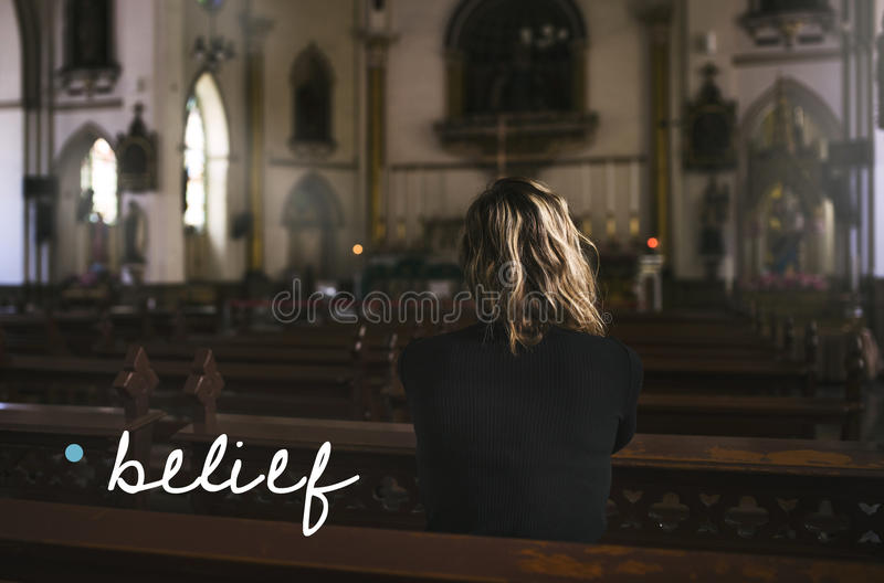Belief Hope Faith Trust Spirit royalty free stock photography