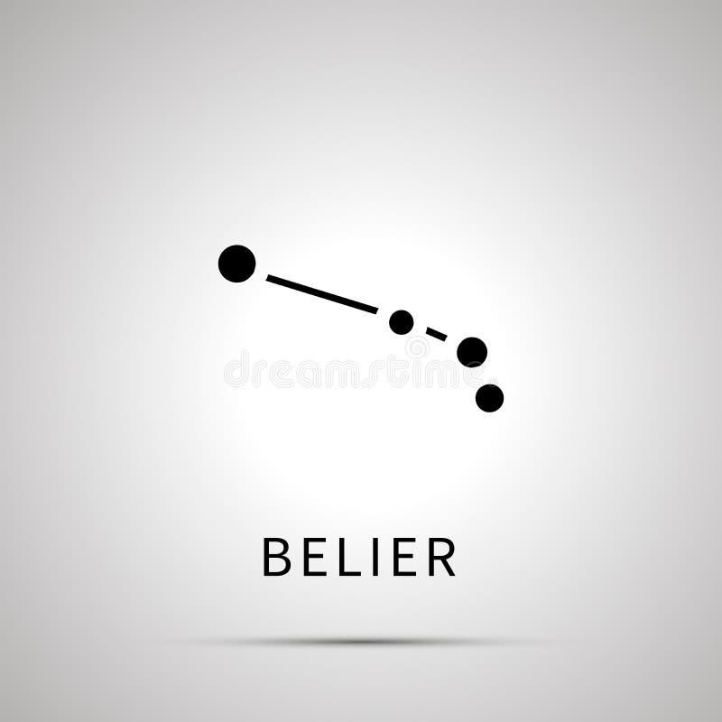 Belier星座简单的黑象 向量例证