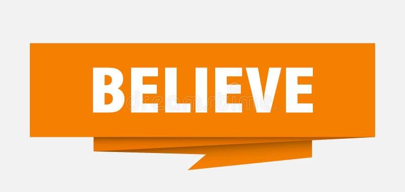 believe stock abbildung