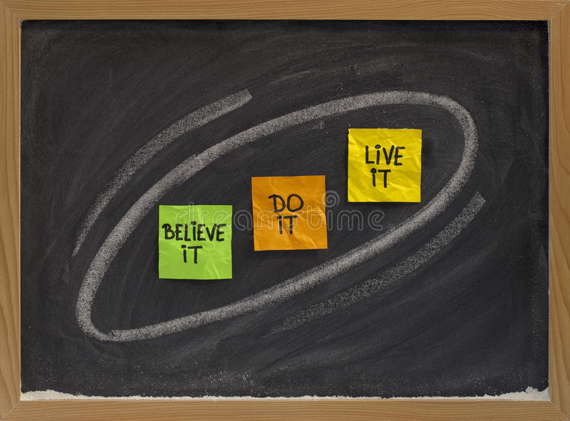 Download Believe, Do, Live It - Motivational Concept Stock Photography - Image: 12800112