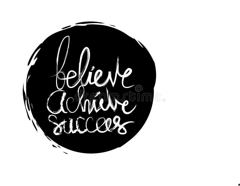 Believe erzielen folgen lizenzfreie abbildung