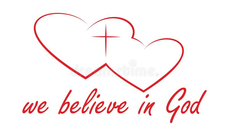 Download We believe in God stock vector. Image of faith, heart - 21347639