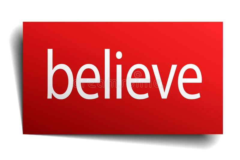 Believe sign. Believe square paper sign isolated on white background. believe button. believe vector illustration