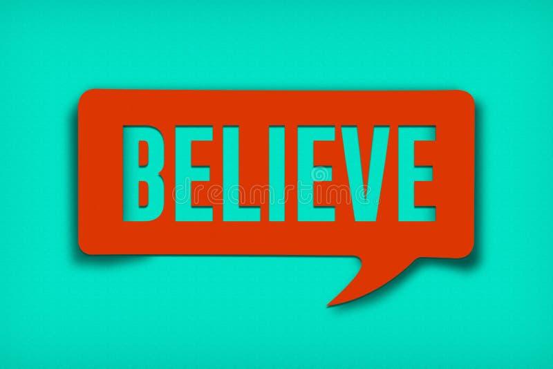 Download Believe Text Bubble stock illustration. Illustration of balloon - 89898086