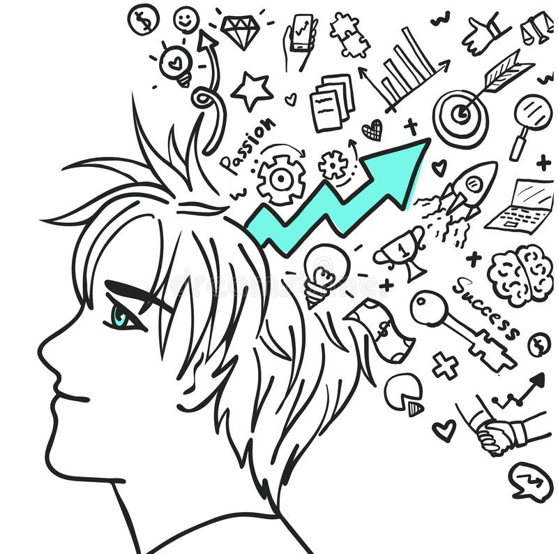 Believe in your self stock illustration
