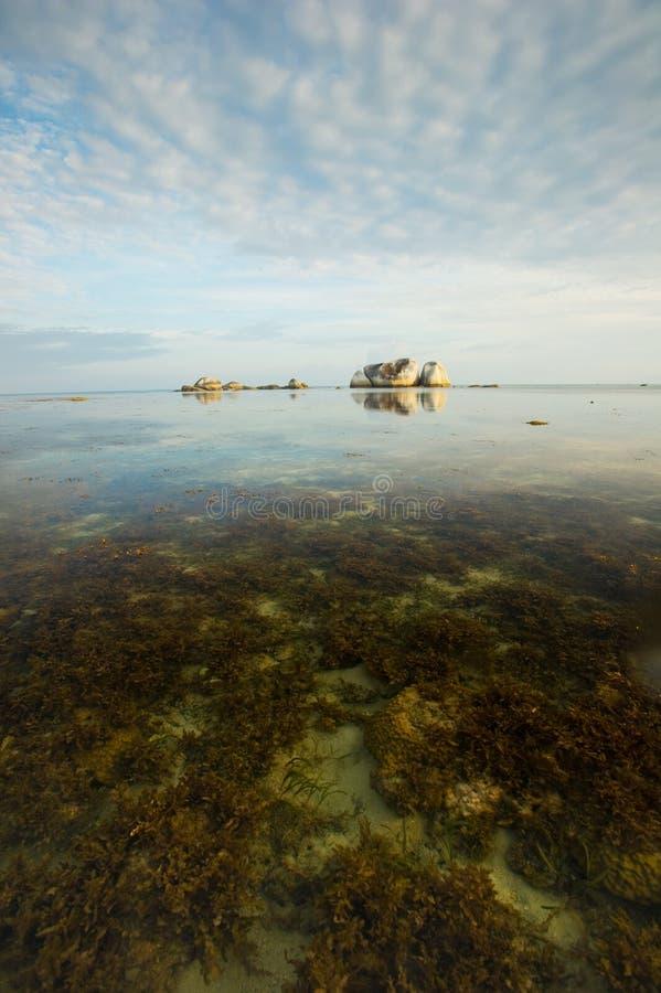 belitung spokojny Indonesia ranek fotografia stock