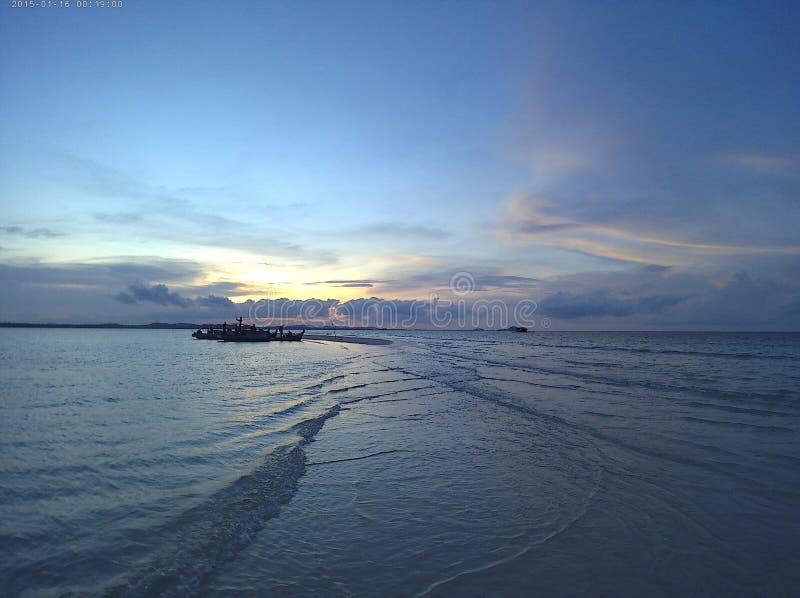 Belitungs-Insel, das versteckte Paradies stockbild