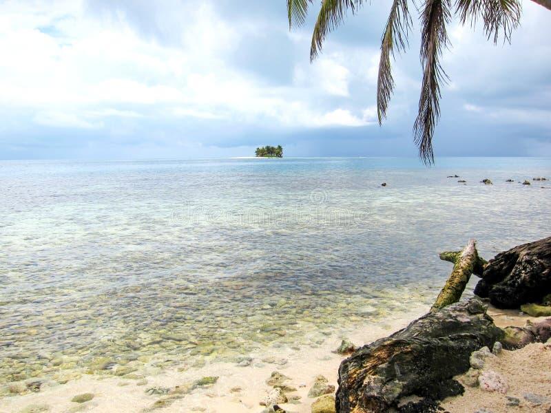 Belize Cayes, Tropikalna wyspa w Belize obraz stock