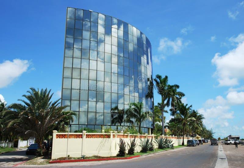 Belize City Architecture. Modern glass building in Belize City (Belize stock photo
