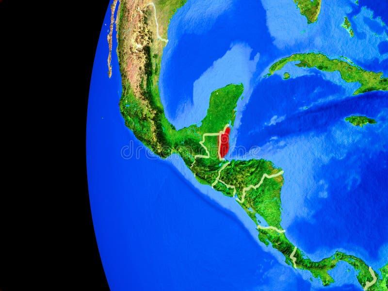 Belize do espaço ilustração do vetor