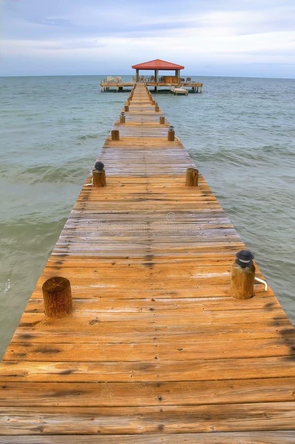 Belize Dock stock image