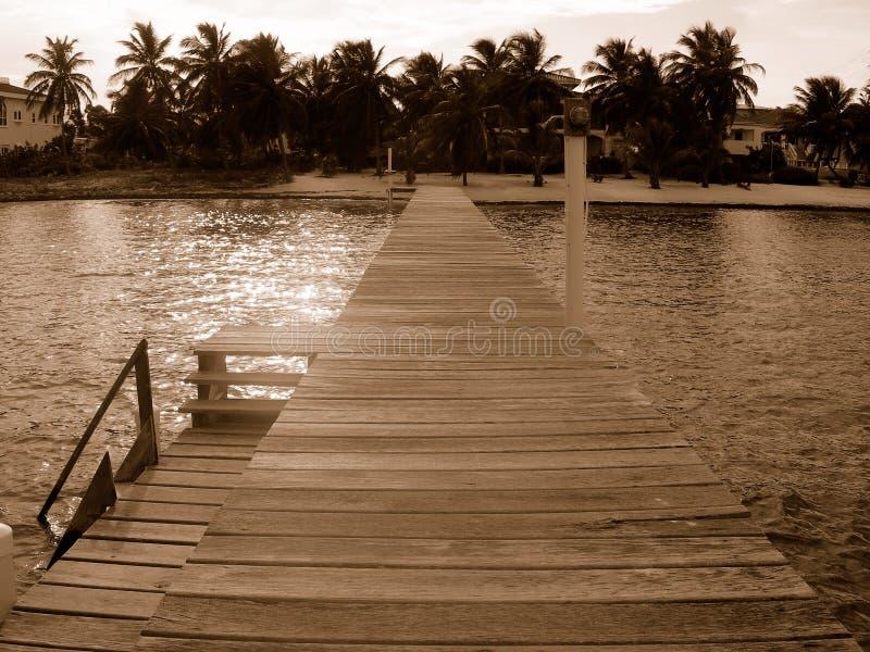 belize dock royaltyfri fotografi
