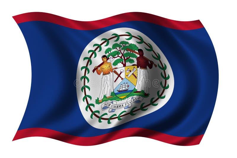 belize flagę ilustracja wektor