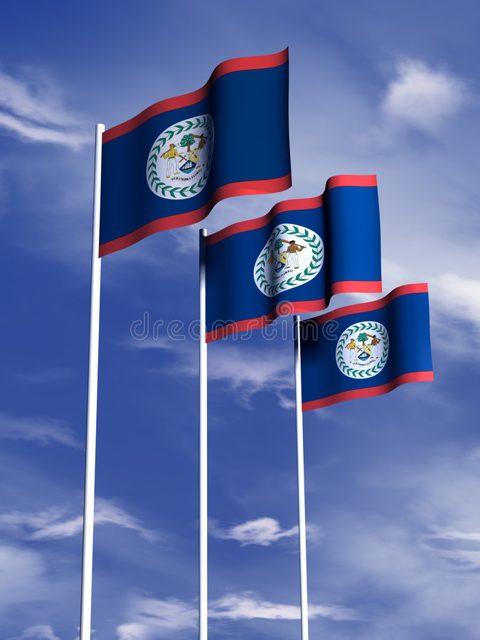 Belize flag stock photos