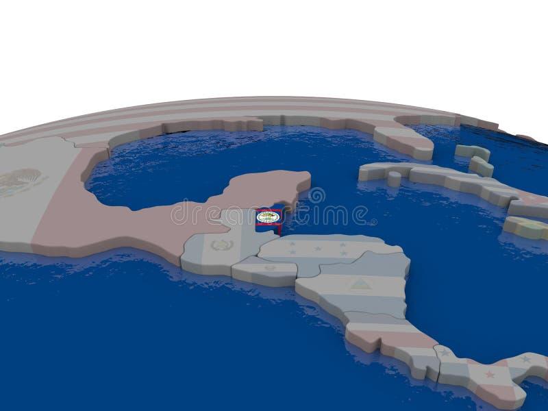 Download Belize With Flag Stock Illustration - Image: 83717443