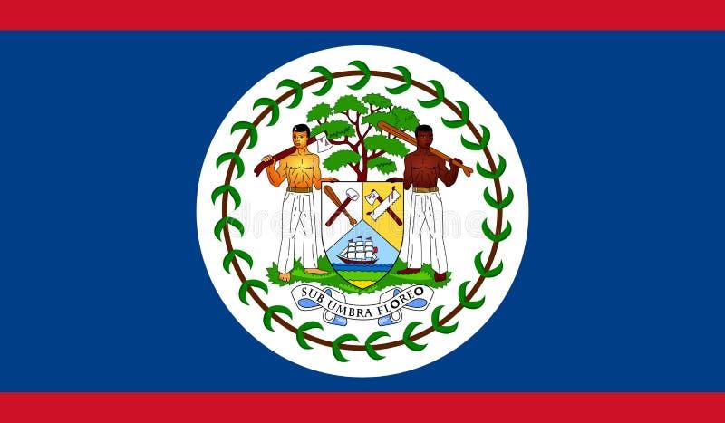 Belize Flag. Belize National Flag - Vector Illustration royalty free illustration