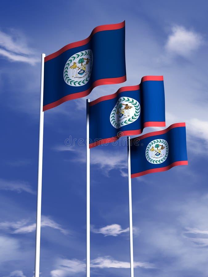 belize flagga arkivfoton