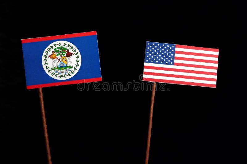 Download Belize-Flagge Mit USA-Flagge Lokalisiert Auf Schwarzem Stockbild - Bild von konzept, militärisch: 96934529