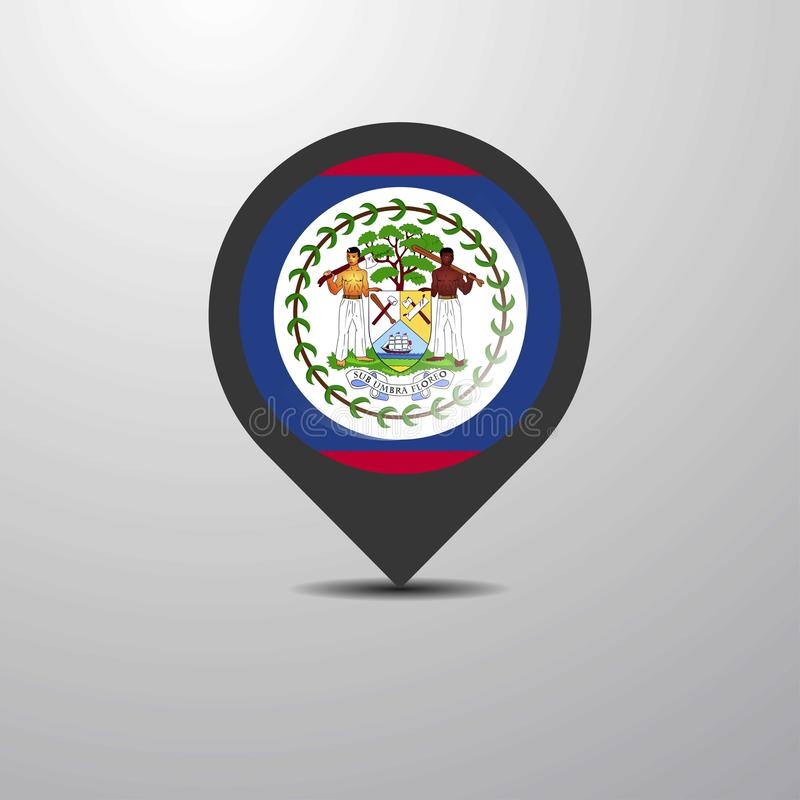 Belize Map Pin. This Vector EPS 10 illustration is best for print media, web design, application design user interface and infographics with well composed royalty free illustration
