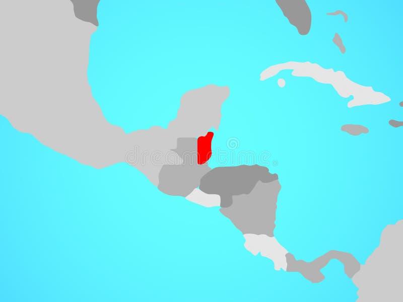 Belize no mapa ilustração do vetor