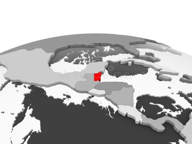 Belize sul globo grigio illustrazione vettoriale