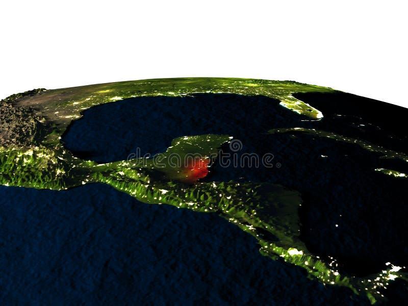 Belize van ruimte bij nacht royalty-vrije illustratie