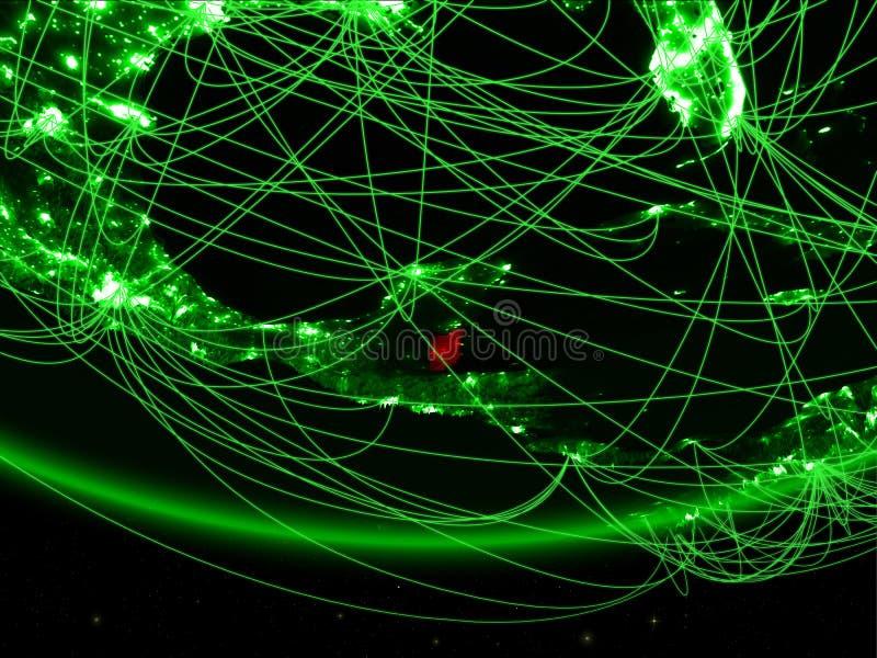 Belize van ruimte met netwerk royalty-vrije stock foto