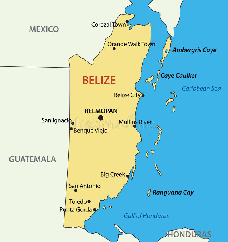 Belize Vector Map Of Country Stock Vector Illustration of