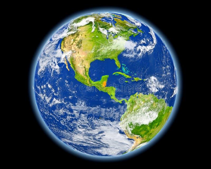 Belize w czerwieni od przestrzeni royalty ilustracja