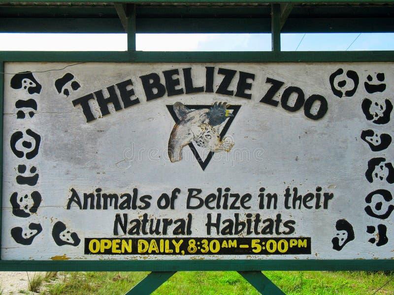 Belize zoo znak obraz royalty free