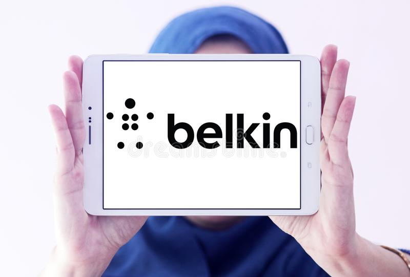 Belkin firmy elektronicznej logo obrazy stock