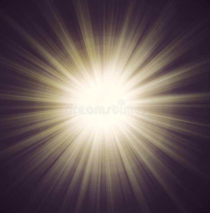 Belkowaci słońce promienie royalty ilustracja