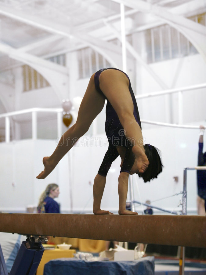 belkowata gimnastyczka obraz stock