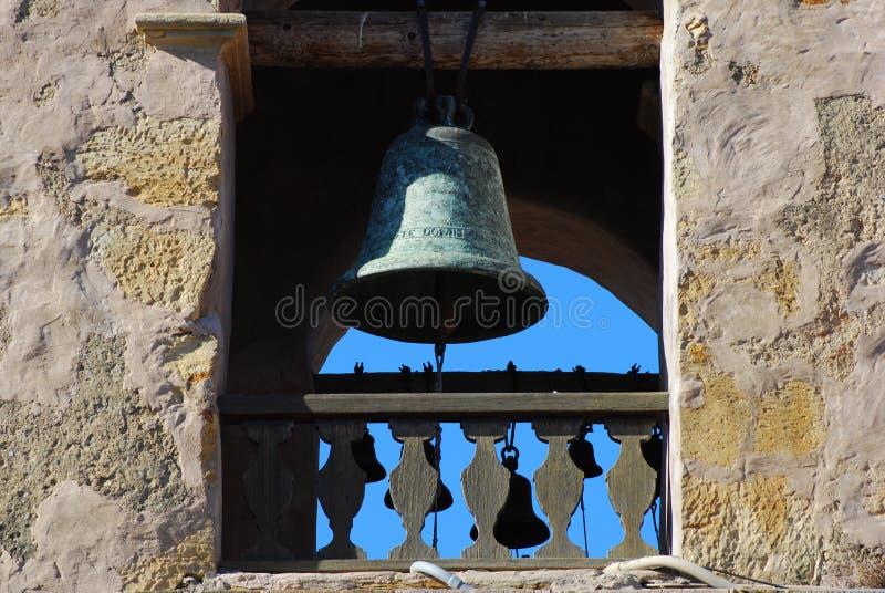 Bell à la mission de Carmel image libre de droits