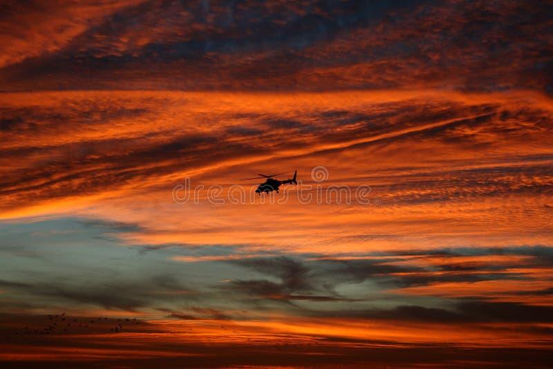 Bell 430 at dusk royalty free stock photos