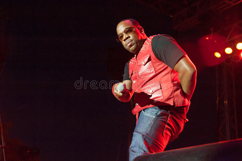Bell Biv Devoe. CITRUS HEIGHTS, CA - AUGUST15: Michael Bivins of Bell Biv Devoe performs at the Sunrise at Night Concert Series at Sunrise Marketplace in Citrus stock images