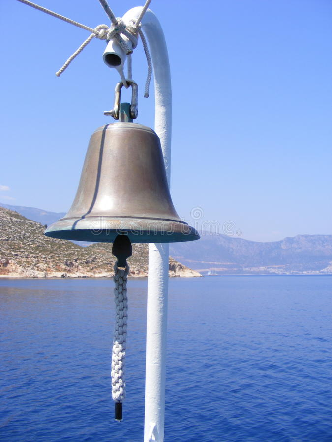Bell on Boat royalty free stock images