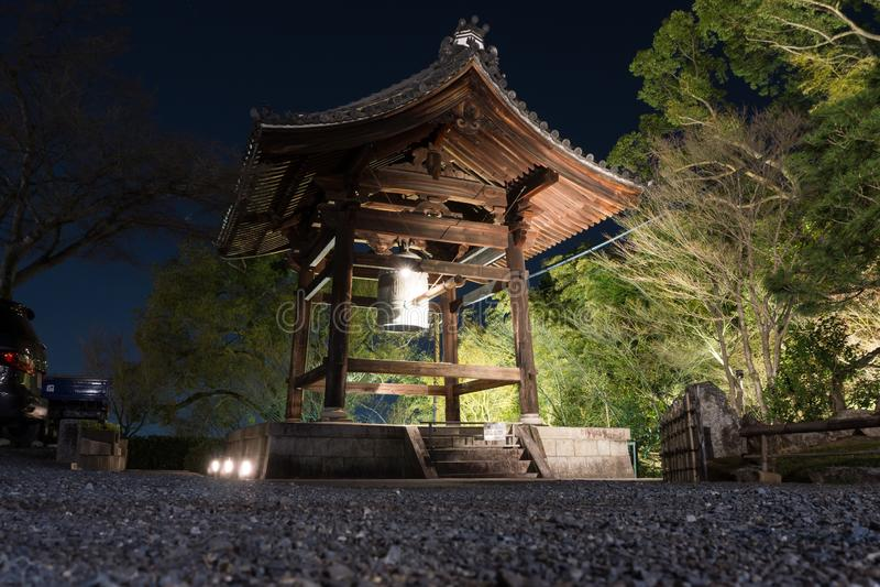 Bell bonita do templo de Kodai-ji em Higashiyama imagens de stock
