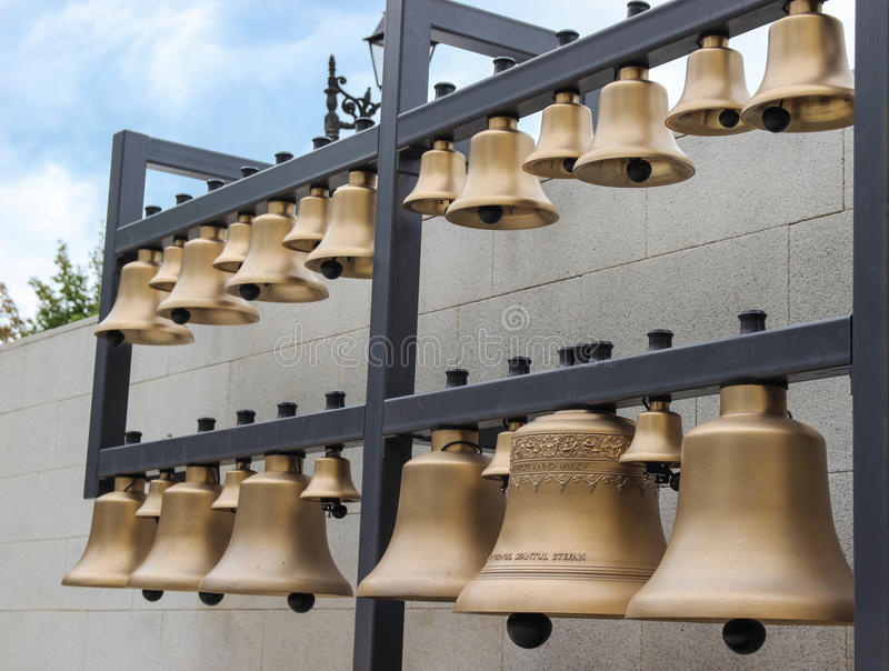 Bell Carillon in Baia Mare, Romania stock images