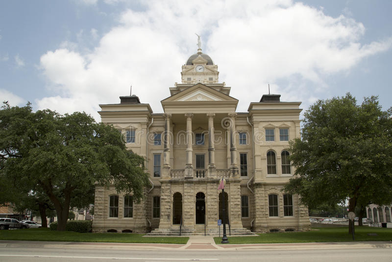 Bell County domstolsbyggnad i TX royaltyfri bild