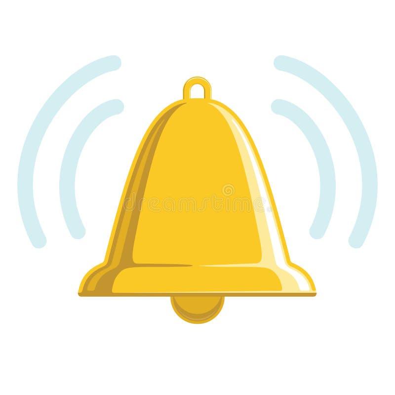 Bell d'or sonnante illustration stock