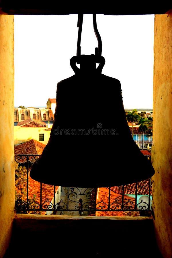 Bell dans l'église de San Francisco de Asis Le Trinidad, Cuba photo libre de droits