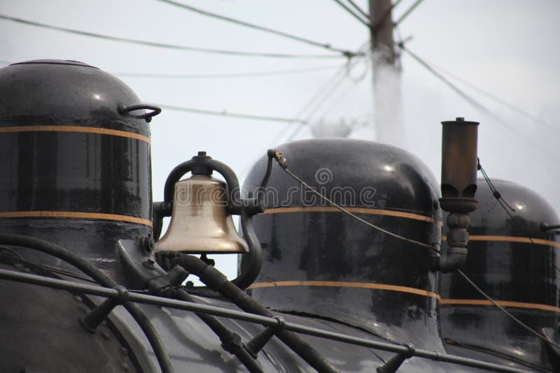 Bell de un tren del vapor foto de archivo libre de regalías