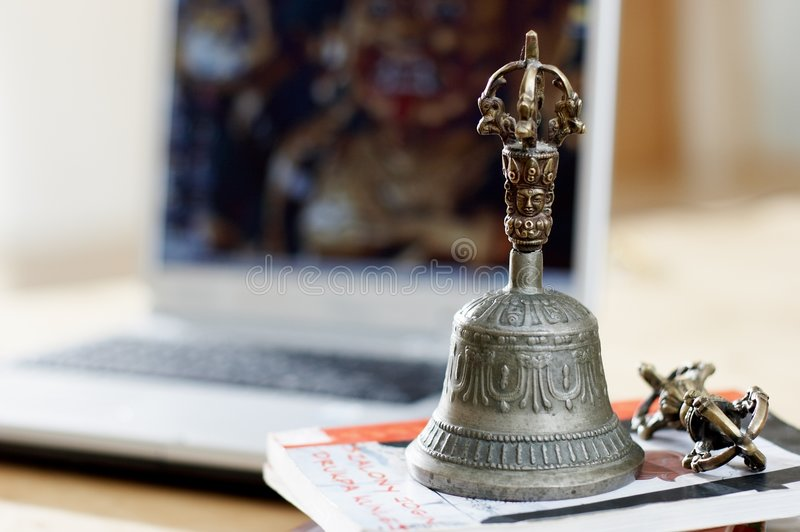 Download Bell and dorje stock image. Image of treasure, antique - 3781845