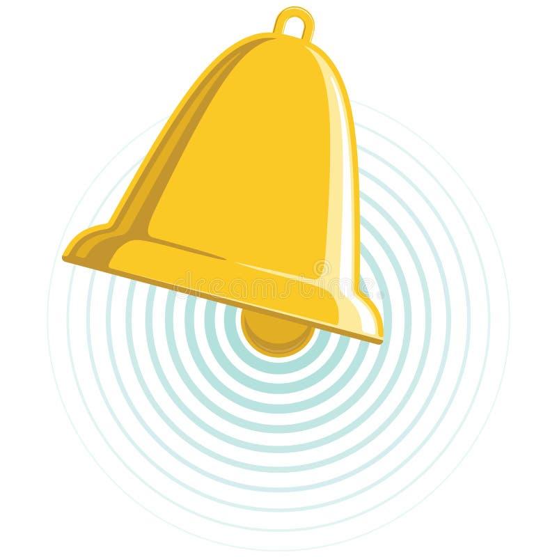 Bell dourada ilustração stock