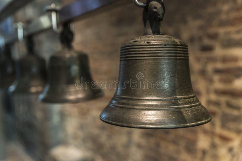 Bell du carillon de tour de cloche à Gand, Belgique images libres de droits