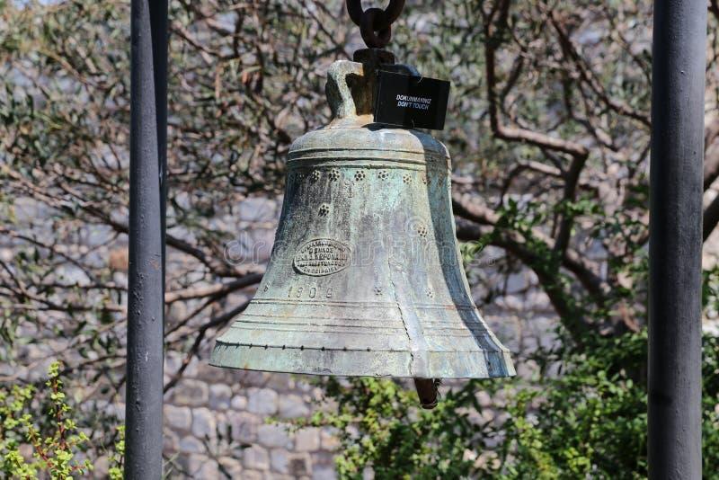 Bell en el castillo de Bodrum fotografía de archivo